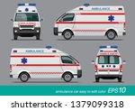 Vector Eps10   White Ambulance...