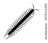 centipede silhouette vector | Shutterstock .eps vector #1379111255