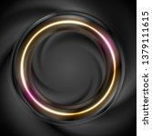 black and bright neon circular... | Shutterstock .eps vector #1379111615
