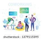 coworking space  business team... | Shutterstock .eps vector #1379115395