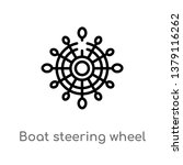 boat steering wheel vector line ... | Shutterstock .eps vector #1379116262