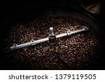 Fresh Coffee Beans And Roasted...