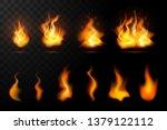 realistic fire flames set...   Shutterstock .eps vector #1379122112