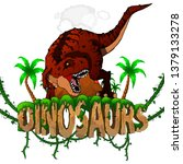logo  dinosaurs world with... | Shutterstock .eps vector #1379133278