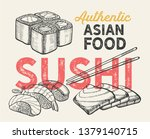 asian illustrations   sushi ... | Shutterstock .eps vector #1379140715