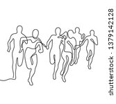 running people continuous line... | Shutterstock .eps vector #1379142128