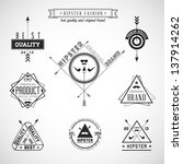 Set of hipster vintage retro labels - EPS10 Compatibility Required | Shutterstock vector #137914262