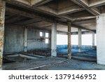 abandoned building unfinished... | Shutterstock . vector #1379146952