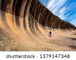 traveller take photo a wave... | Shutterstock . vector #1379147348