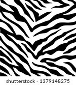 Zebra Skin  Stripes Pattern....