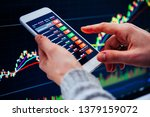 a trader or a financial analyst ... | Shutterstock . vector #1379159072