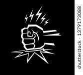 angry fist on table vector icon.... | Shutterstock .eps vector #1379173088