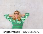young  pretty blonde woman... | Shutterstock . vector #1379183072