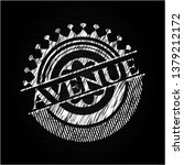 avenue chalk emblem   Shutterstock .eps vector #1379212172