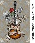 electric guitar music   Shutterstock .eps vector #1379213975