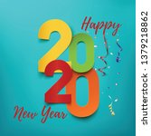 happy new year 2020. abstract... | Shutterstock .eps vector #1379218862