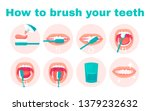 how to brush your teeth step by ... | Shutterstock .eps vector #1379232632