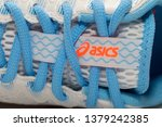 Small photo of Bangkok,Thailand-March 13,2019:ASICS Running Shoes Road Hawk FF2 isolated on white,ASICS is a Japanese multinational corporation athletic equipment company which produces footwear and sports equipment