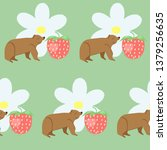 seamless pattern with cute... | Shutterstock .eps vector #1379256635