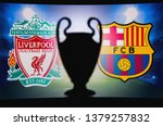 liverpool  england  april 24.... | Shutterstock . vector #1379257832