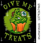 it's halloween day  so give me... | Shutterstock .eps vector #1379267465