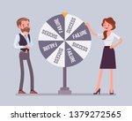 wheel selecting random changes... | Shutterstock .eps vector #1379272565