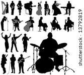 set of musician vector | Shutterstock .eps vector #13792819