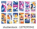 birds and animals poster set ...   Shutterstock .eps vector #1379295542