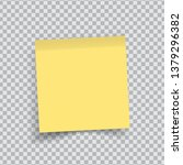 yellow sticker paper. note... | Shutterstock .eps vector #1379296382
