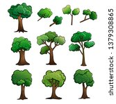 tree and stem cartoon drawing...   Shutterstock .eps vector #1379308865