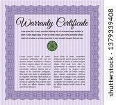 violet vintage warranty...   Shutterstock .eps vector #1379339408