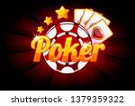 poker banner with icon playing...