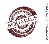 red aquarius distressed rubber...   Shutterstock .eps vector #1379361452