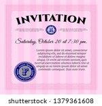 pink vintage invitation...   Shutterstock .eps vector #1379361608