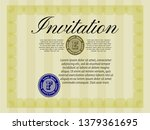 yellow vintage invitation....   Shutterstock .eps vector #1379361695
