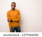satisfied african american man...   Shutterstock . vector #1379366582