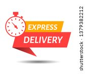 express delivery sign for apps... | Shutterstock .eps vector #1379382212
