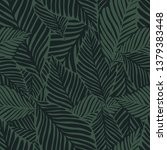 abstract dark green jungle...   Shutterstock .eps vector #1379383448