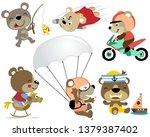 vector set cartoon of playing... | Shutterstock .eps vector #1379387402