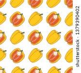 vegetables pepper seamless... | Shutterstock .eps vector #1379390402