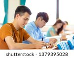 college student  studying in ... | Shutterstock . vector #1379395028