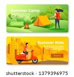 vector set of bright banner... | Shutterstock .eps vector #1379396975