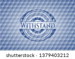withstand blue polygonal emblem.   Shutterstock .eps vector #1379403212
