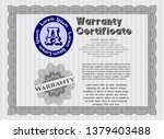 grey vintage warranty template. ...   Shutterstock .eps vector #1379403488