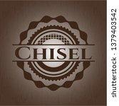 chisel wood emblem. vintage.   Shutterstock .eps vector #1379403542