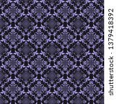 blue floral ornament on dark ...   Shutterstock .eps vector #1379418392