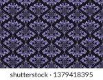 seamless pattern. wallpaper in...   Shutterstock .eps vector #1379418395