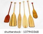 wooden canoe paddles of...   Shutterstock . vector #137943368