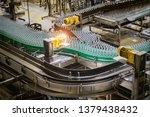 modern automated beer bottling... | Shutterstock . vector #1379438432