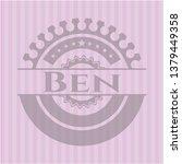 ben retro style pink emblem   Shutterstock .eps vector #1379449358